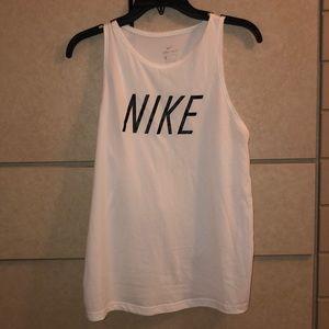 Nike White Dri - Fit Athletic Tank size M